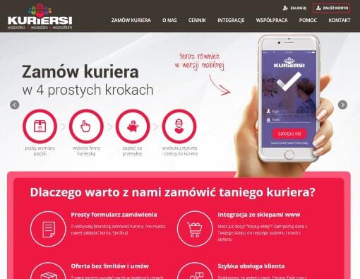 strona internetowa kuriersi.pl