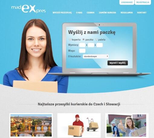 Strona internetowa brokera kurierskiego madexexpres.pl
