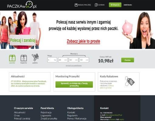 strona internetowa paczkaw24.pl