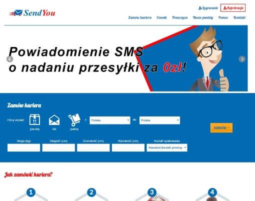 Strona internetowa SendYou.pl