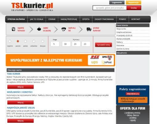 Strona internetow TLSkurier.pl