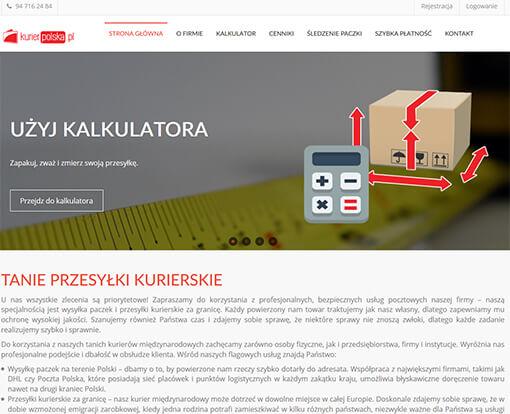 Strona internetowa brokera kurierskiego KurierPolska24.pl