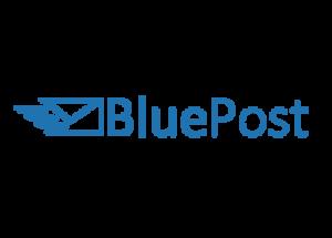Logo brokera kurierskiego bluepost.pl