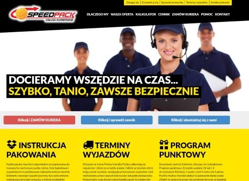 Strona internetowa brokera kurierskiego Speedpack.com.pl
