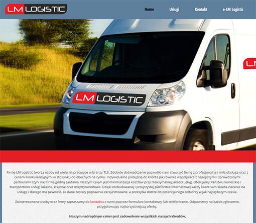 Strona internetowa brokera kurierskiego LM Logistic