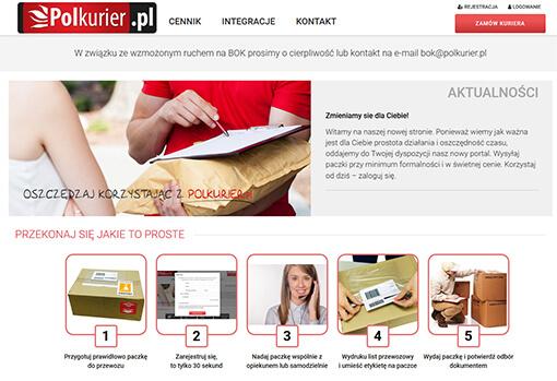 Strona internetowa brokera kurierskiego Polkurier