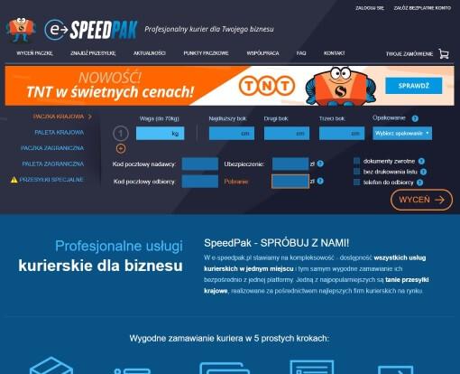 Strona internetowa brokera kurierskiego E-SpeedPak