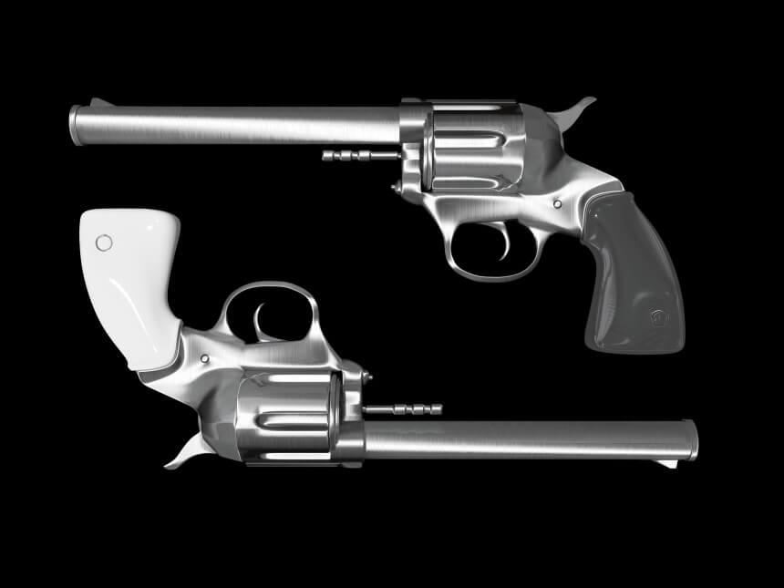 pistolet towar zakazany kurierem DHL