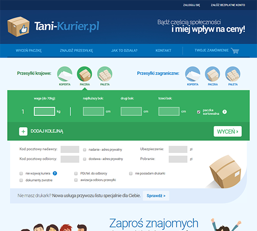 Serwis internetowy Tani-kurier.pl - broker kurierski