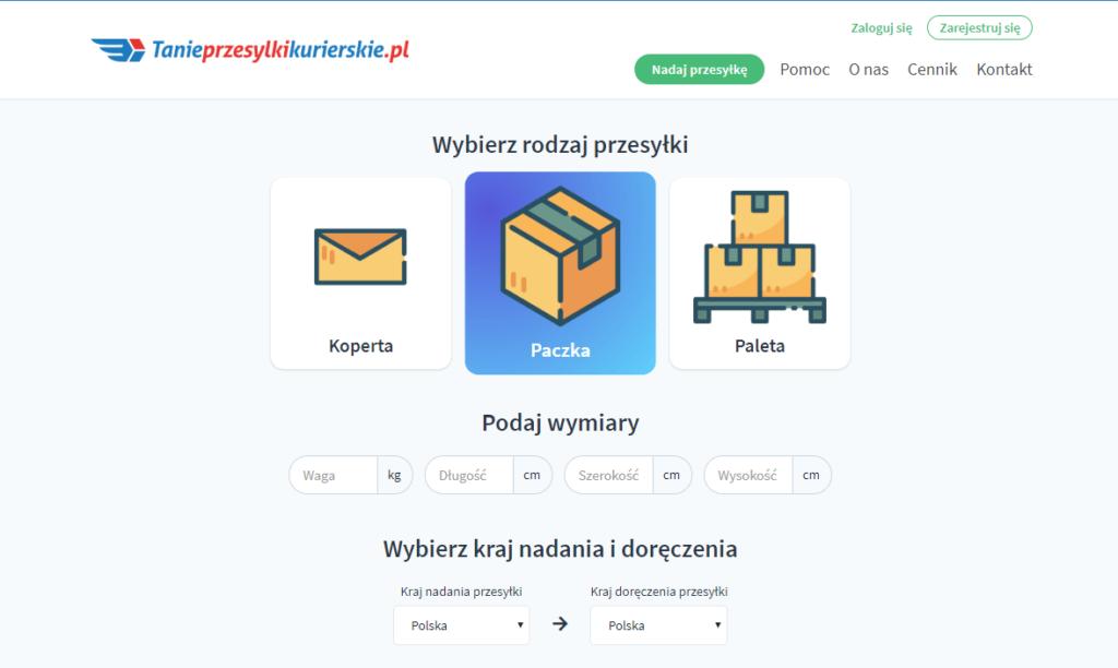 tanieprzesylkikurierskie.pl page www