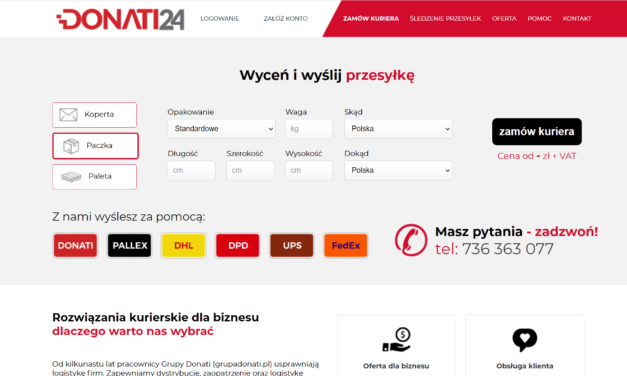 Specjaliści od transportu palet – Donati24.pl